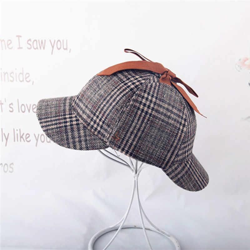 6653d50b ... Vintage Sherlock Holmes Beret Hat Costume Retro Earflaps Detective Hat  For Men Women Deerstalker Newsboy Flat ...