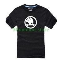 New Fashion Summer Brand Skoda T Shirt 100 Cotton Tops Short Sleeve T Shirt High Quality