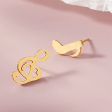 Asymmetric Personality Trendy Music Notes Earrings Silver Color Rhinestone Earring Women Accessory Lady Gold Earrings for Her цена