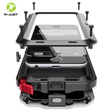 Protection robuste Doom armor métal aluminium téléphone étui pour iphone 6 6S 7 8 Plus X 4 4S 5S SE 5C antichoc housse anti poussière