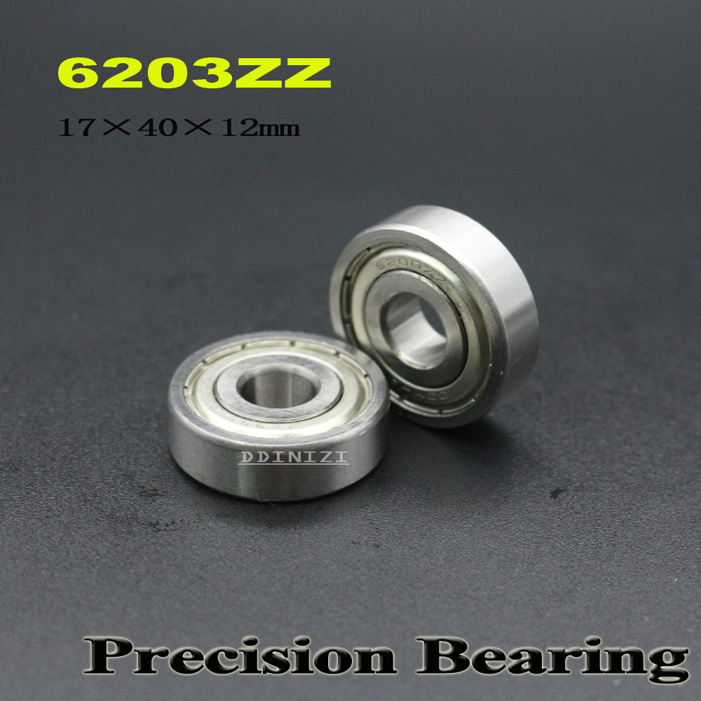 6203ZZ Bearing 17*40*12 mm ABEC-3 For Machinery Saws Deep Groove 6203 Z ZZ Ball Bearings 6203Z ( 4 PCS ) image