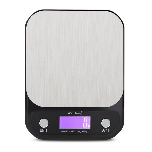 10kg 1g LCD Kitchen Electronic Scale 10000g/1g Digital Scales Stainless Steel Food Baking Scale G LB OZ Weighing Balance Backlit