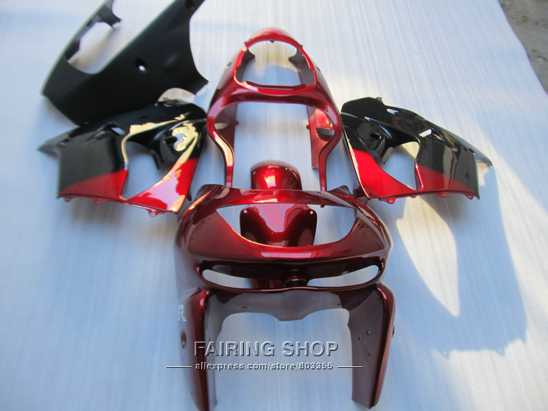 Aftermarket body parts fairing kit For Kawasaki ZX9R 98 99 red black bodywork fairings set ninja zx9R 1998 1999 XG07