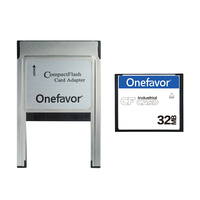 Onefavor 32MB Compact Flash Card + PCMCIA Adapter For Industrial Machine Wholesale Promotion Cartao De Memoria Free Shipping