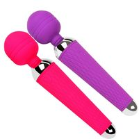 Hot selling USB Rechargeable Waterproof AV Vibrating Spear Oral Clit Vibrators for woman Sex products Adult toys