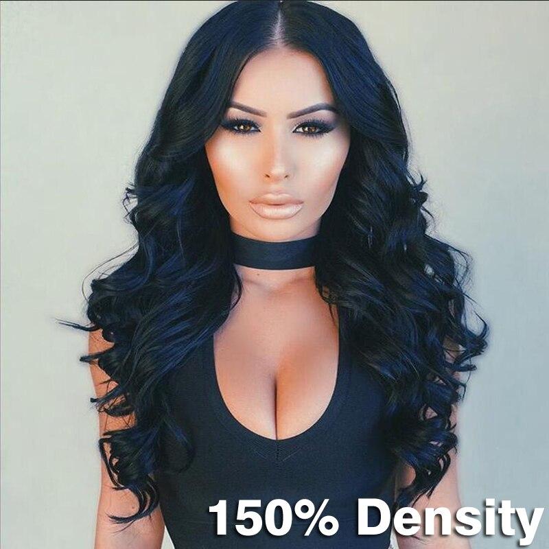 8A Grade Lace Front Human Hair Wigs For Black Women Brazilian Virgin Human Hair Full Lace Wigs 150 Density Human Hair Wigs