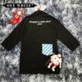 Harajuku BLANCO CAPA 2013 OPCIONES de TRABAJO Trench Rompevientos Abrigos de Hip Hop Kanye West VIRGIL ABLOH Supremo de color blanquecino CHAQUETA