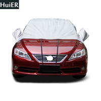 Universal Car Half Car Cover Sun UV Snow Dust Wind Resistant Protection Auto Covers Full Seasons