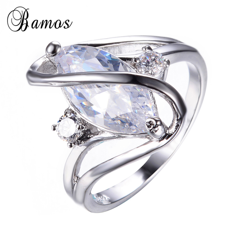 US $3.99 20% OFF Elegant White Ring 925 Sterling Silver Filled Jewelry  Vintage Wedding CZ Ring Austrian Crystal Engagement Rings For Women  RW0349-in ...