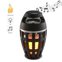 10pcs/lot Unique Fire Flame Atmosphere Bluetooth Speaker With Led Lights Lamp Stereo HIFI Bass Subwoofer Portable Waterproof