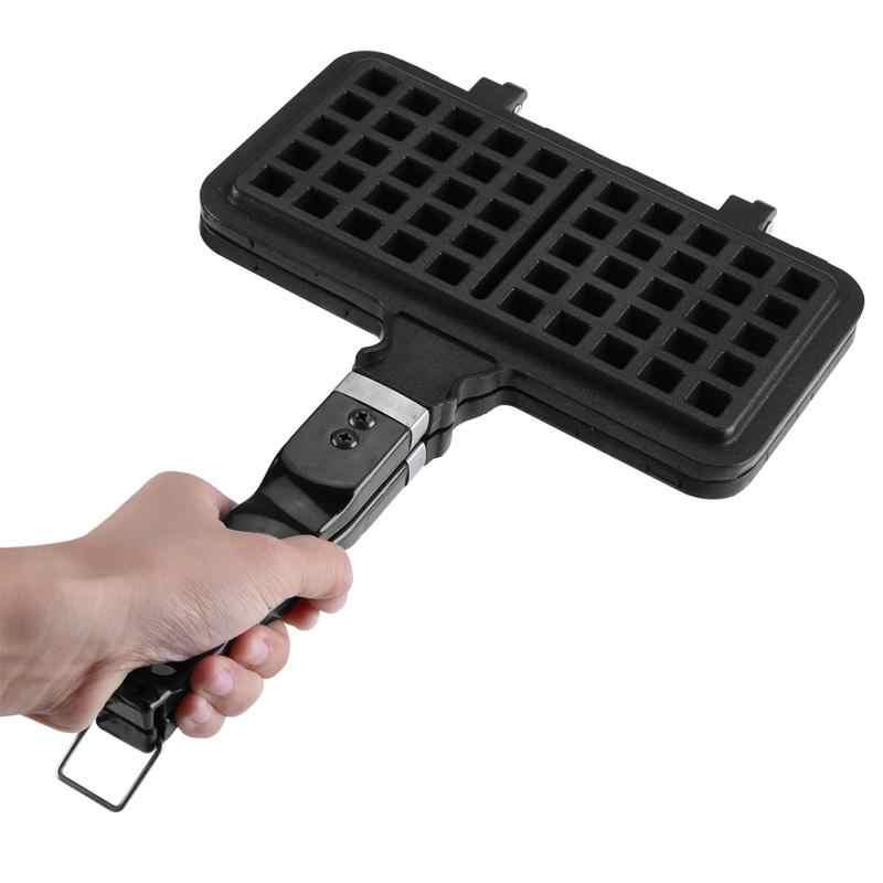 1 PC รูปสี่เหลี่ยมผืนผ้ารูปร่าง Non-Stick วาฟเฟิลแม่พิมพ์เบเกอรี่เครื่องมือ Maker กดแผ่น PAN
