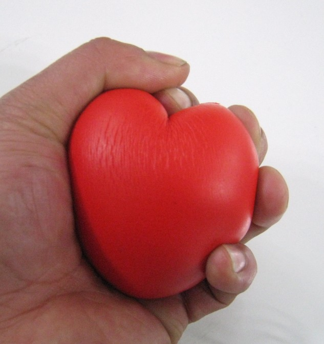 7*5.5cm pu foam material heart stress ball,pu heart,squeeze ball,relax ball free shipping