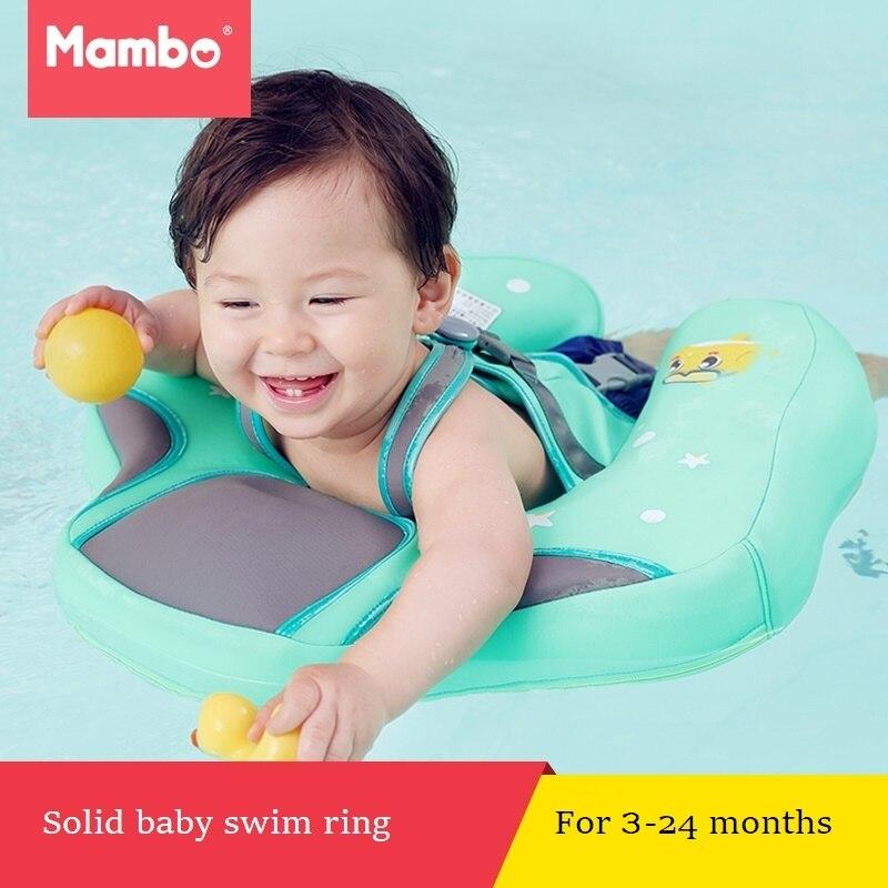 Sólido No seguridad inflable para accesorios bebé natación flotante anillo de nadar adecuado para 0-2-3 -6 años de edad
