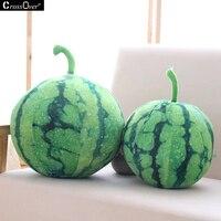 Spedizione Gratuita Home Decor Plush Toys 3D Creativo di Simulazione Di Fruitwatermelon Cuscino Piano Cuscini Cuscini del Divano