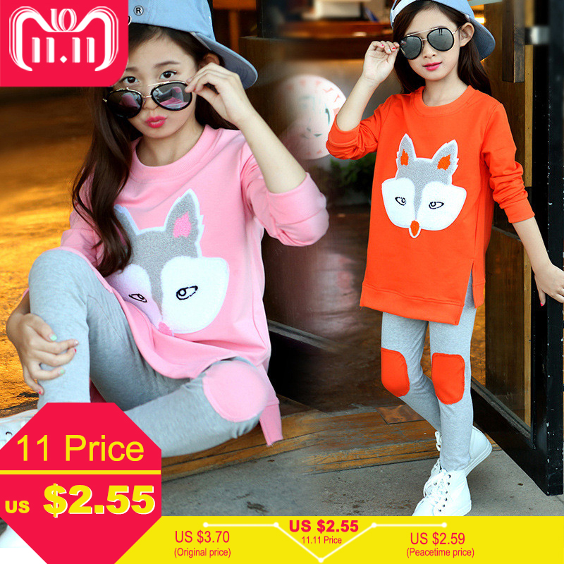 Winter 2019 Christmas Children Clothing Toddler Girls Sets Long Sleeve Tracksuit For Girls Clothes Sport Suit Kids Clothes Sets keaiyouhuo girls clothes summer tracksuit for girls sport suit children clothing sets vest lace t shirt skirt costume for kids