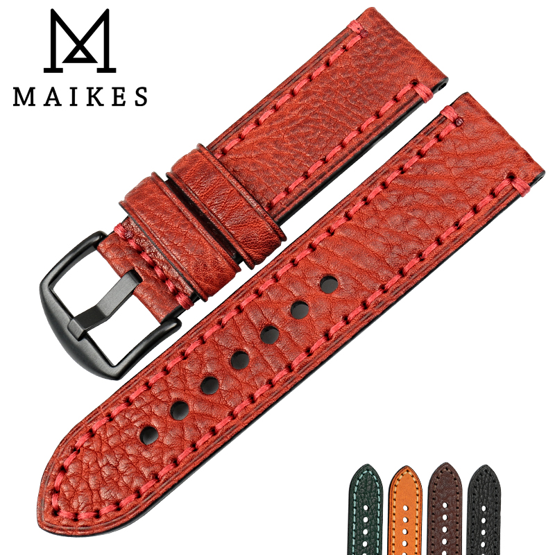 MAIKES Fashion Red Watch Accessories Watch Band 20mm 22mm 24