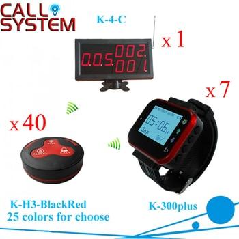 Электронный гость подкачки Системы 1 дисплей 7 наручные часы 40 Таблица колокол для ресторана Cafe оборудования