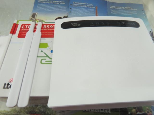 New Huawei B593s-601 LTE FDD 2600MHz TDD2300Mhz 150Mbps Wireless Router +2pcs antenna of B593 2pcs b593 antenna huawei b593u 91 lte tdd2300 2600mhz b38 b40 dc hspa 3g 900 2100mhz mobile wireless cpe router