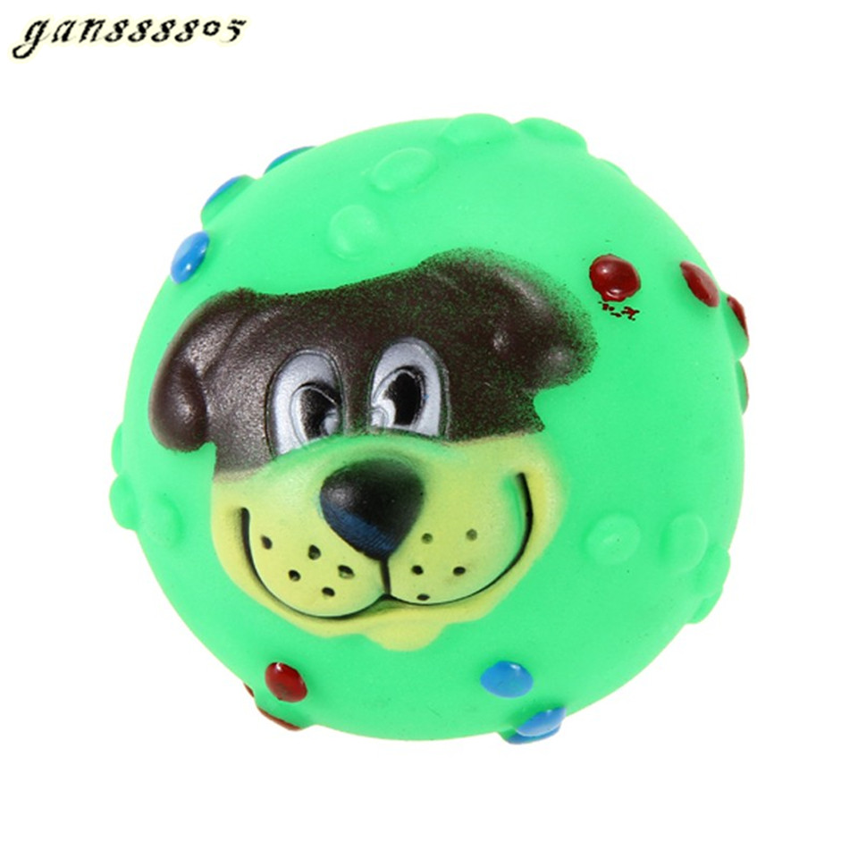 Squishy Ball Dog Toy : Funny Pet Dog Ball Toy Dog Face Sound Squeaky Toys Soft Rubber Chew Sound Ball Toys-in Dog Toys ...