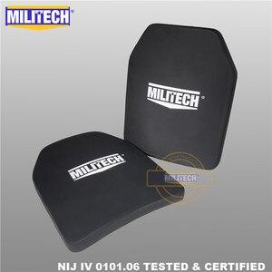 """Image 1 - Militech duas peças 10 """"x 12"""" alumina cerâmica & pe nij iv 0101.06 suporte placa à prova de balas sozinho painel balístico com frete grátis"""