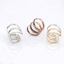 Korean U-shaped ear clip Simple bone European and American fashion earrings three ring creative new
