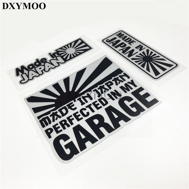 Car styling made in japan garagecar stickers 3m japanese national flag motor bike phone vinyl decals
