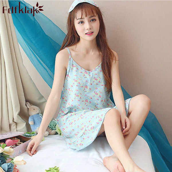 5575ddb83b1 Detail Feedback Questions about M XXL Plus Size Sexy Women Nightgowns  Cotton Spaghetti Strap Shorts Nightdress Girls Sleepwear Home Clothes  Summer Sleep ...