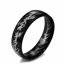MMS Midi Ring Tungsten One Ring of Power Gold the Lord of Ring Lovers Women and Men Fashion Jewelry Wholesale Free Drop ship