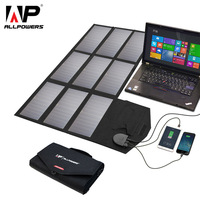 ALLPOWERS 60W Solar Panel 5V 12V 18V Portable Solar Panels Charger for Cell Phone iPhone Samsung Huawei Laptop Tablet