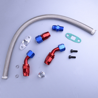 DWCX Durable Oil Return Drain Line Kit for Turbo Charger for T3 T4 T70 T66 TO4E
