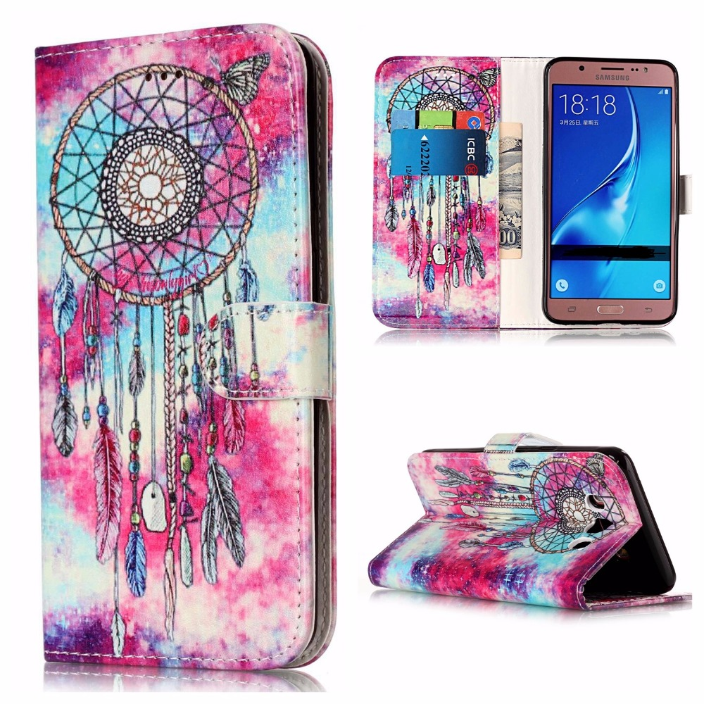 , COATUNCLE Flip Leather Case sFor Coque Samsung Galaxy J3 2017 J330 Case For Samsung J3 2015 2016 Wallet Cover Marble Phone Case