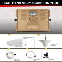2G 3G GSM WCDMA Dual Band Mobile Phone Signal Booster 70dB AGC GSM 900 WCDMA UMTS