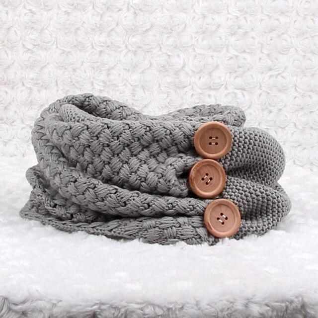 Invierno cálido punto infinito bufanda marca de lujo mujeres Color ...