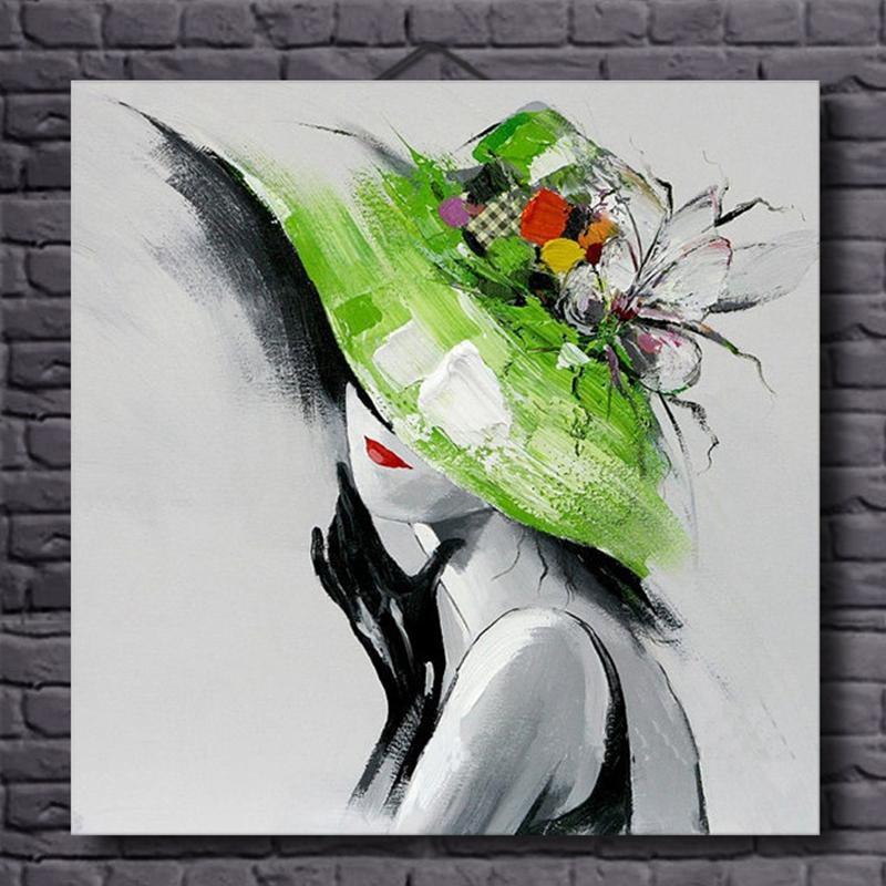 100% ručně malované obrazy krásná žena sexy plátno nástěnná výzdoba moderní abstraktní olejomalba pro bydlení romm výzdoba bezrámové