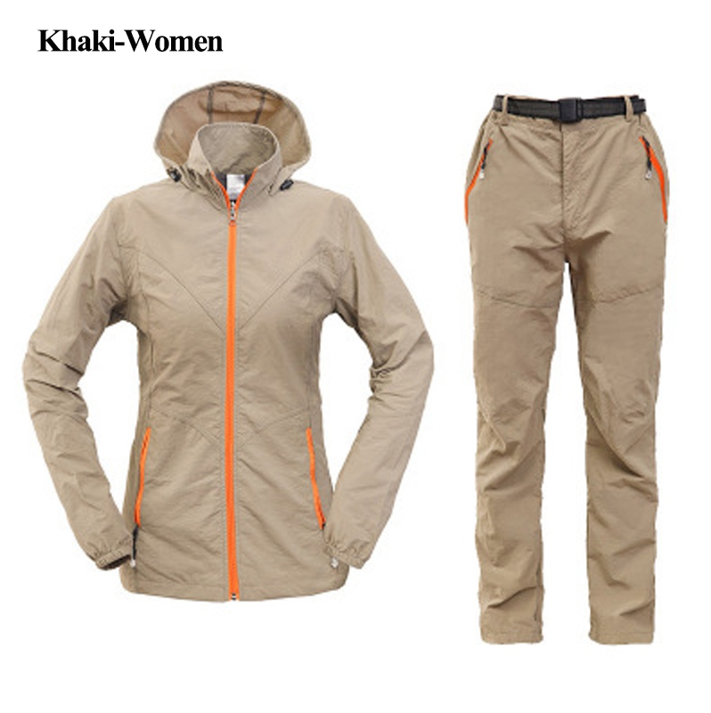 6 Color Women Men Spring Summer Fishing Clothing Set Jacket Breathable Outdoor Sportswear Clothes Fishing Coat