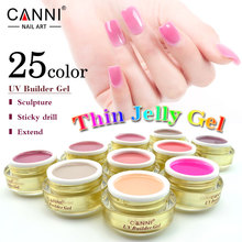 CANNI Wholesale cover pink camouflage jelly nail extension UV Builder Gel Transparent Clear Nude color Nail UV Builder Gel 15ml(China)