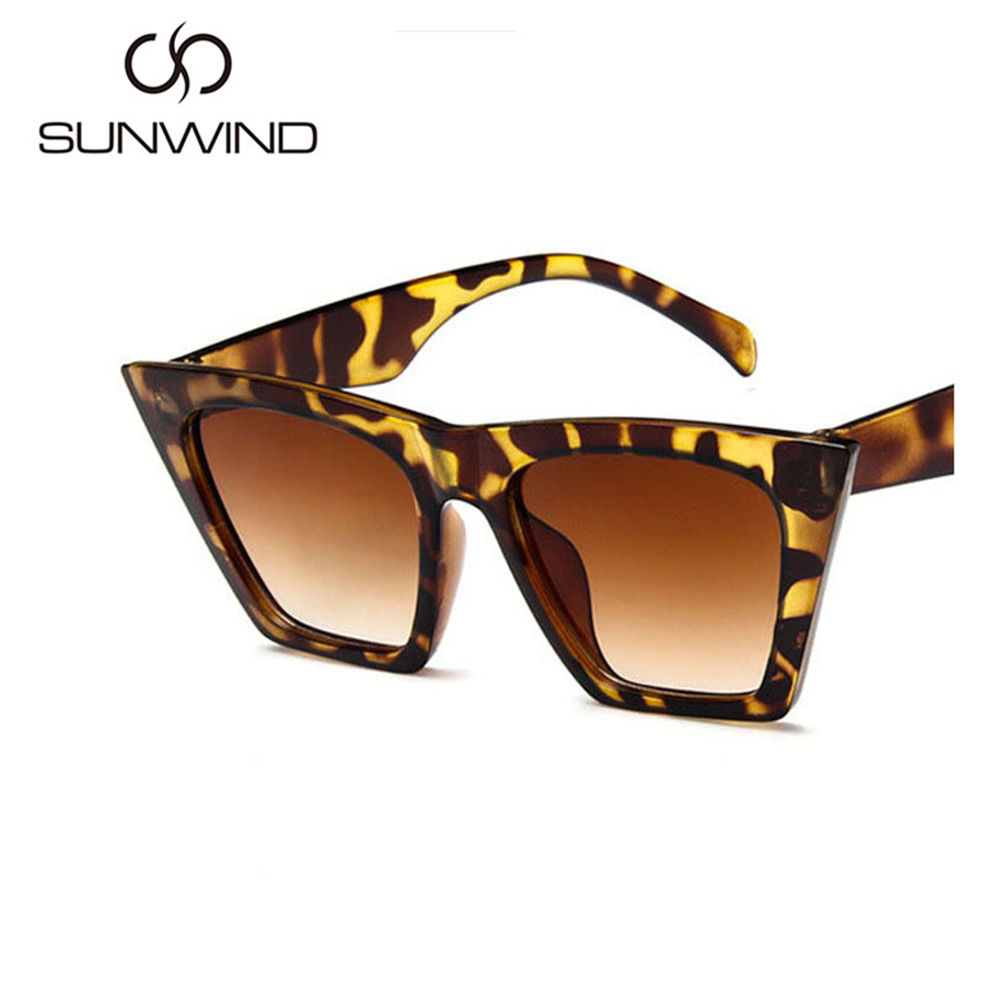 Gafas de sol de leopardo mujeres diseñador de la marca Vintage - Accesorios para la ropa