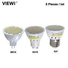 5 шт., светодиодные лампы e27 E14 GU10 MR16 3 Вт Ac Dc 12 24 В