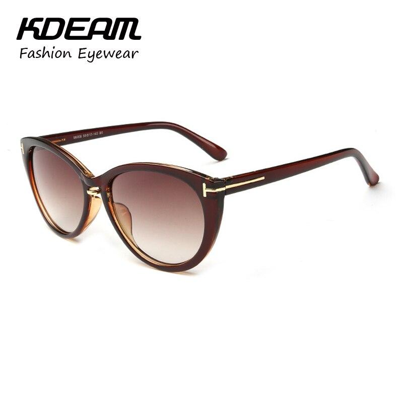 Kdeam Óculos olho de Gato Do Vintage óculos de Sol para As Mulheres  Colorido Revestimento HD Lente Reflexiva Óculos de Sol Da Marca 10 Cores  KD6008 4b76511a38