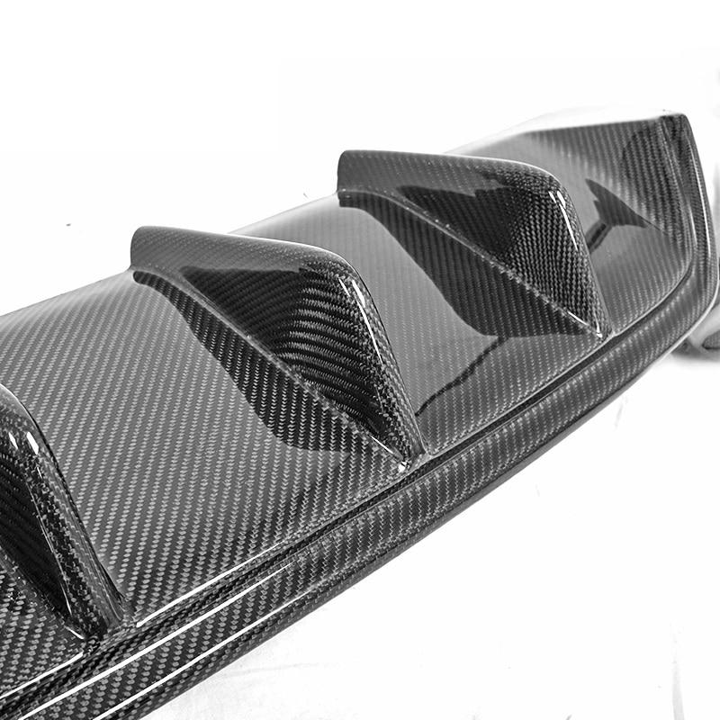 Fit for BMW 6 640i 650i F12 carbon fiber 4 tip exhaust ...