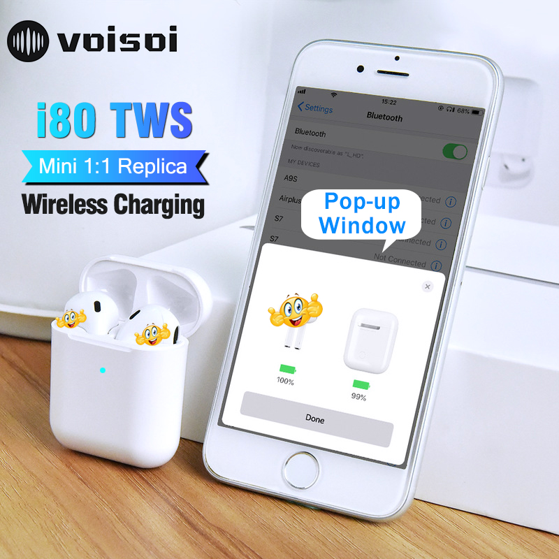 i80 TWS Pop Up 1:1 Air2 Wireless Bluetooth Earphone Separate Use QI Wireless Charging Bass Pods Earphones PK i60 i30 i20 i10 TWSi80 TWS Pop Up 1:1 Air2 Wireless Bluetooth Earphone Separate Use QI Wireless Charging Bass Pods Earphones PK i60 i30 i20 i10 TWS