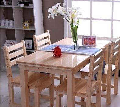 Toda la madera sólida de comedor mesa de pino mesa de comedor ...