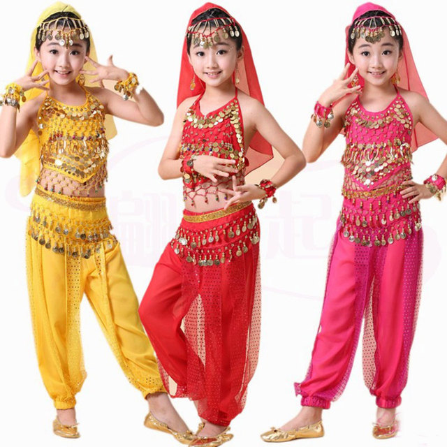 a6eaa58cc Girl Belly Dance Costumes for Children Belly Dancing Set Girls ...
