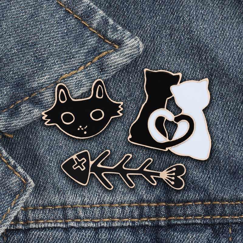 3 ピース/セットファッションかわいい動物ブローチピンアルパカ猫馬レインボー女性ブローチ Matel ラペルシャツバッジジュエリー特別なギフト