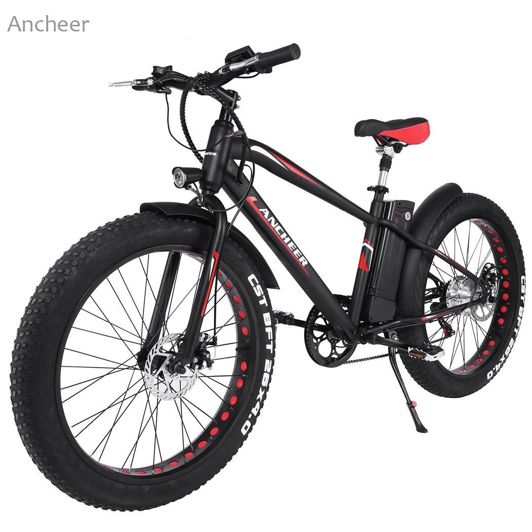 Ancheer New Outdoor 36V10AH Lithium Battery E-Bike Folding Electric Bicycle with Collapsible Frame and Handlebar Display mercane m1 three wheeled electric scooter folding lithium battery bicycle