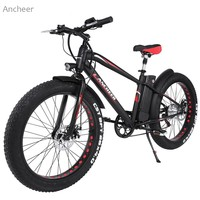 Ancheer New Outdoor 36V10AH Lithium Battery E Bike Folding Electric Bicycle With Collapsible Frame And Handlebar