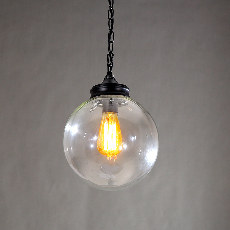 Creative design Modern Glass Ball Pendant Lights Lamps For Dining Room Living Room Bar 96-265V E27 Edison Bulb WPL116 creative design modern glass ball pendant lights lamps for dining room living room bar 96 265v e27 edison bulb wpl116