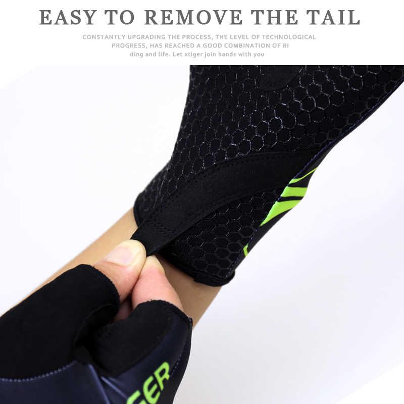 X-tiger Anti-UV łamanie wiatr letnie rękawiczki rowerowe rękawice rowerowe zmywalne MTB pół palca rower sportowy rękawiczki akcesoria rowerowe