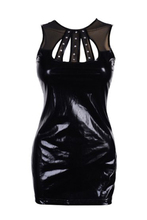 ADW 2017 NEW Leatherette dress faux leather tight sleeveless size XL(42-44) sexy evening diamond