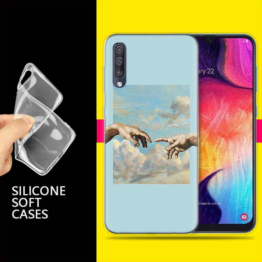 Bolsas para Samsung Galaxy teléfono móvil A50 A70 A30 A20 J4 J6 J8 A6 A8 M30 A7 Plus 2018 nota 8 9 el nacimiento de venus Coqu